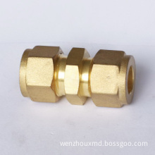 Brass Fitting, Compression Straight Union Connector Pipe Fitting