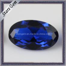 Spinel gemme en pierres synthétiques ovales ovales de haute qualité