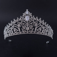Eagle Head Type Flower Pattern Pageant Crown For Queen