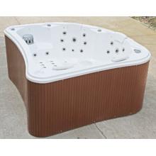 Hermosa forma de acrílico al aire libre SPA bañera de baño (jl980)