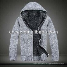 12STC0638 manteau pull épaissi à la mode des hommes