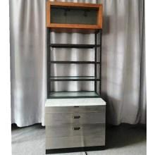Soporte de exhibición para el cuidado de la piel Muebles de madera y metal al por menor