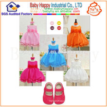 Chinese wholesale fashion color optional new born baby dress
