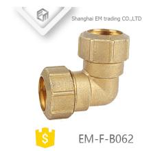 EM-F-B062 Klempnerarbeit Ellbogen 2-Wege gleichen Gelenk 90 Grad Spanien Rohrverschraubung