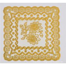 20 см круглой формы Золотой кружева ПВХ Характеристика салфетка Маслостойкие, Водонепроницаемые