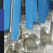 Non-Rising Stem Cast Iron Double Flanged Knife Gate Valve