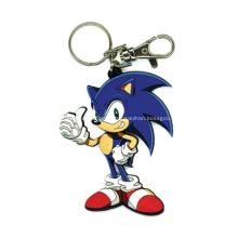 Porte-clés 2D PVC promotionnel