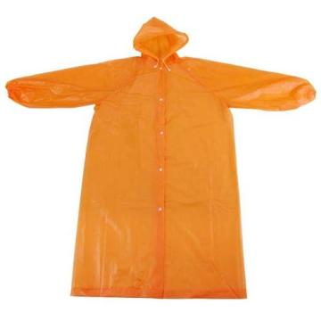 Orange Disposable Plastic Rainsuit