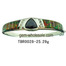 Silver Opal Bangle Jewelry (YB00006)