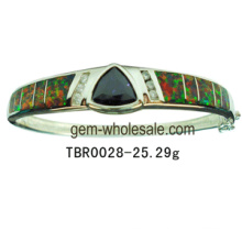 Серебряный опал браслеты ювелирные изделия (YB00006)