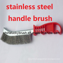 Plastic Handle Stainless Steel Wire Polishing Brush (YY-353)