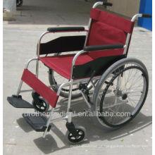 Cadeira de rodas de alumínio básica BME4633 Rodas de raios cruzados duplos