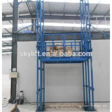 Elevador hidráulico elétrico da construção da corrente de trilho de guia