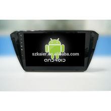 Quad core! Android 4.4 / 5.1 dvd de voiture pour SKODA Superbe avec écran capacitif de 10,1 pouces / GPS / lien miroir / DVR / TPMS / OBD2 / WIFI / 4G