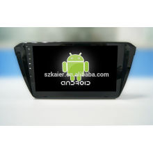 Quad core! Android 4.4/5.1 car dvd for SKODA Superb with 10.1 inch Capacitive Screen/ GPS/Mirror Link/DVR/TPMS/OBD2/WIFI/4G