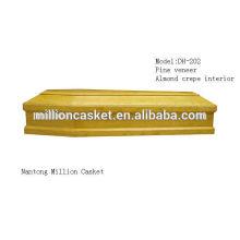 DH-202 сосновый шпон пользовательских деревянный гроб частные планы