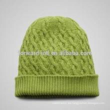 Nuevo diseño 2014 mujeres tejidas sombrero de invierno