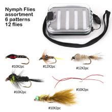 Moscas de pesca com mosca de ninfa perfeita