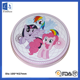 Round Metal Candy Tin Packaging
