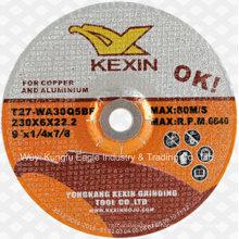 Alúmina Cuttingdisc/pulido abrasivos disco de acero inoxidable