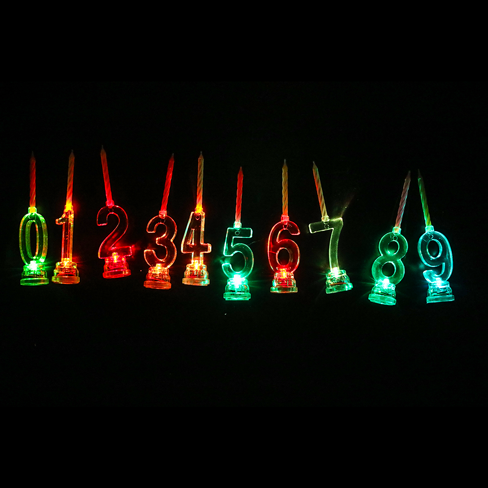 Led number candle