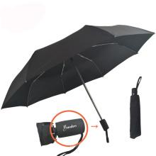 3folding full AOC customized logo prints on handle xiamen manual factory quality promotional umbrella