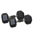 30LB Black Hex Dumbbell