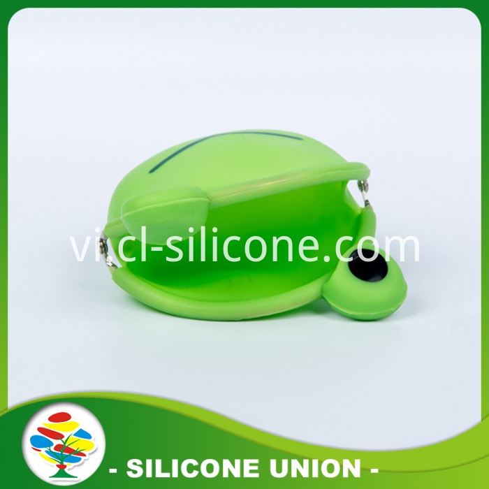 Eco-friendly Silicone Coin Purse With Green Frog