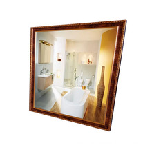 glass wall mirrors decorative cheap with gold frame vanity mirror hot sale