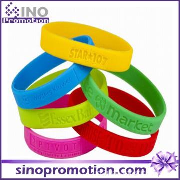 Wholesale Fashion Personalized Cheap Custom Friendship Silicone Slap Bracelet