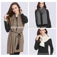 Ladies stylish cashmere jacquard pattern knitted scarf and shawl 2016