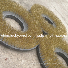 """15"""" Brass Wire Circular Cleaning Brush for Sanitation (YY-271)"""