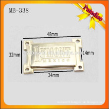 MB338 New shape metal logo custom clothing label and tag for sewing
