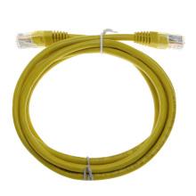 Cordón de conexión de red RJ45 cat6 sin blindaje amarillo personalizado