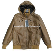 high quality winter mens pu leather jacket