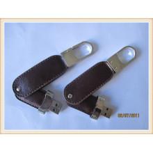 2015 neuer Schwenker Keychain Leder USB-Feder-Antrieb (EL005)