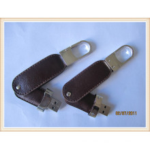 2015 New Swivel Keychain Leather USB Pen Drive (EL005)