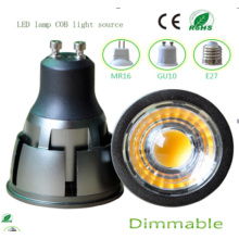 Dimmable 7W GU10 COB LED Ampoule