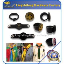 Custom Made Cachecol Scout PVC Anel Impressão Woggle