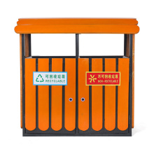 Outdoor Steel-Wood Separate Dustbin (C6500)