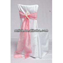 Chaise de polyester durable couverture et organza thermofusion pour banquet/mariage