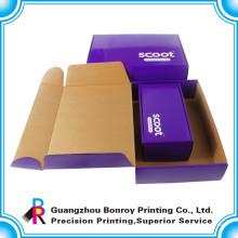 Hochwertige benutzerdefinierte Größe CorrugatedShoes Box mit Griff