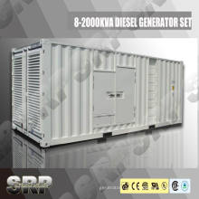 Ensemble de générateur diesel insonorisant 910kVA 50Hz Alimenté par Cummins (SDG910CCS)