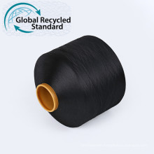 GRS certification white filament 100% ECO 100D denier FDY Recycled polyester yarn recycled for weaving ribbon