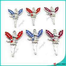 Wholesale Colorful Crystal Angel Pendant DIY accessories  (MPE)