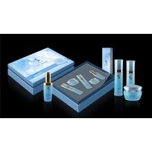 Caja de cosméticos rígida con bandeja de plástico / caja de cosméticos con inserto de EVA