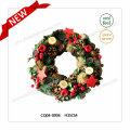 28 * 27 * 7cm Corona en forma de corazón de plástico de la flor artificial de la Navidad Ornamento De Navidad