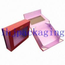 Caja plegable de lujo del chocolate del empaquetado con la ventana y los imanes