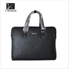 Bolsa de negócios de couro genuíno homens de negócios bolsa de laptop bolsas de marca de alta qualidade