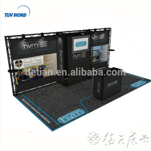Detian offer 10x20 feet truss display modular booth truss trade show booth tension fabric display shelf with storage room